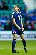 Lisa Evans (#11) of Scotland during the Women's Euro Qualifiers match between Scotland Women and Cyprus Women at Easter Road, Edinburgh, Scotland on 30 August 2019.