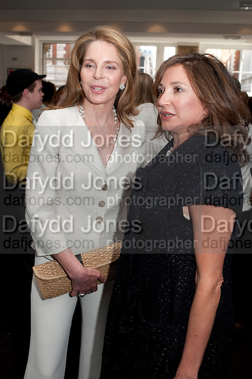 QUEEN NOOR OF JORDAN; DORIT MOUSAIEFF ( FIRST LADY OF ICELAND)  , Gala screening of COUNTDOWN TO ZERO, Bafta. Piccadilly. London. 21 June 2011. <br /> <br />  , -DO NOT ARCHIVE-© Copyright Photograph by Dafydd Jones. 248 Clapham Rd. London SW9 0PZ. Tel 0207 820 0771. www.dafjones.com.