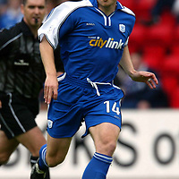 St Johnstone FC season 2002-2003<br />Craig Russell<br /><br />Pic by Graeme Hart<br />Copyright Perthshire Picture Agency<br />Tel: 01738 623350 / 07990 594431