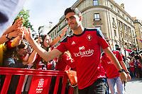 Osasuna's player Mikel Merino during the celebration for promotion to La Liga BBVA on the streets of Pamplona . 19,06,2016. (ALTERPHOTOS/Rodrigo Jimenez)