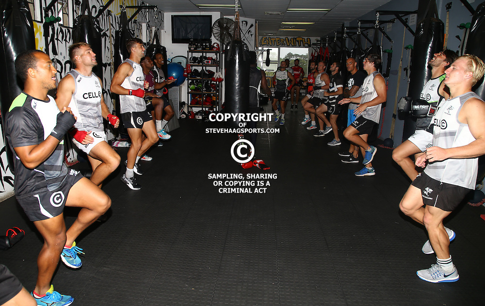DURBAN, SOUTH AFRICA - JANUARY 16: General views during the Cell C Sharks boxing session at Domination on January 16, 2017 in Durban, South Africa. (Photo by Steve Haag/Gallo Images)
