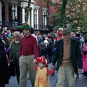 Annual childrens Halloween parade at Washington Square in Greenwich Village, New York, NY