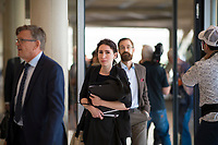 DEU, Deutschland, Germany, Berlin, 02.04.2019: Mariana Harder-Kühnel (AfD) vor Beginn der Fraktionssitzung der Partei Alternative für Deutschland (AfD) im Deutschen Bundestag. Die Rechtsanwältin wurde von der AfD für das Amt der Bundestagsvizepräsidentin nominiert, scheiterte jedoch in zwei Wahlgängen. Am Donnerstag dieser Woche findet der dritte Wahlgang statt.