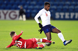 Denmark U21's Magnus Kofod (left) and England U21's Ryan Sessegnon battle for the ball during the international friendly match at the Blue Water Arena, Esbjerg.