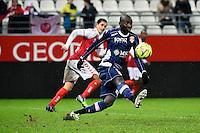 Cedric MONGONGU  - 13.12.2014 - Reims / Evian Thonon  - 18eme journee de Ligue1<br />Photo : Fred Porcu / Icon Sport