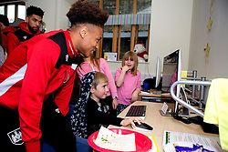 Bobby Reid of Bristol City meets children during Bristol City's visit to the Children's Hospice South West at Charlton Farm - Mandatory by-line: Robbie Stephenson/JMP - 21/12/2016 - FOOTBALL - Children's Hospice South West - Bristol , England - Bristol City Children's Hospice Visit
