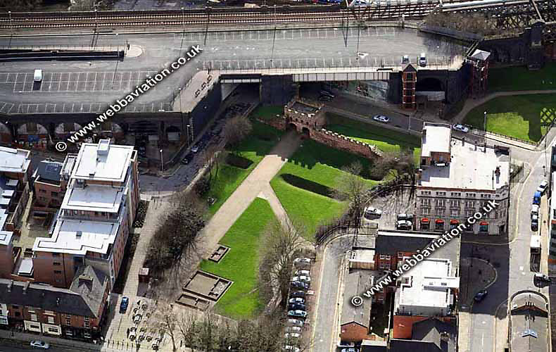 aerial photograph Manchester Roman Fort  UK