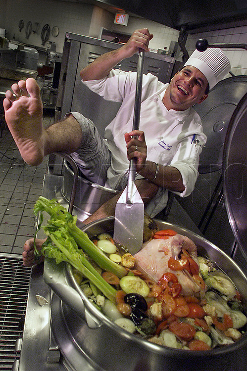 Executive Chef Steven Tempel for Eurest Dining Services in the Bank of America Tower at International Place in downtown Miami.