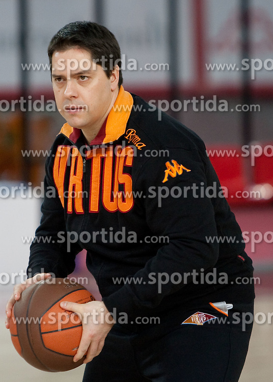 Head coach Saso Filipovski during practice session of basketball club Lottomatica Roma day before Euroleague Top 16 Round Match vs KK Union Olimpija Ljubljana, on January 19, 2011 in Arena PalaLottomatica, Rome, Italy. (Photo By Vid Ponikvar / Sportida.com)
