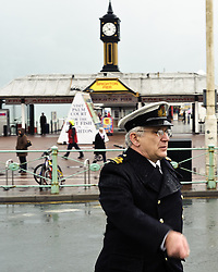 © under license to London News Pictures.  14/11/2010. Armed forces and cadets parade past Brighton pier on their way to the Remembrance Day service held in the Old Steine, Brighton.