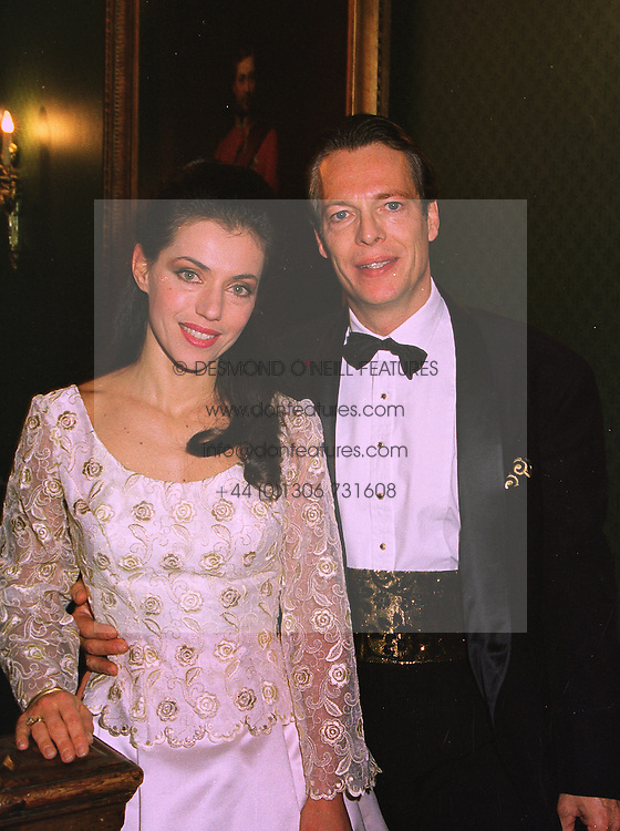 BARON & BARONESS RUDIGER VON WOELLWARTH-LAUTERBURG at a wedding in London on 6th December 1997.MED 5