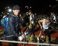 Marino VANHOENACKER (BEL) Goes Through Final Checks In Transition. Ironman Asia Pacific Championship Melbourne. Triathlon. Frankston And St Kilda, Melbourne, Victoria, Australia. 24/03/2013. Photo By Lucas Wroe