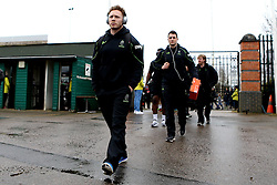 Worcester Warriors arrive at Franklin's Gardens for the Aviva Premiership fixture against Northampton Saints - Mandatory by-line: Robbie Stephenson/JMP - 25/02/2017 - RUGBY - Franklin's Gardens - Northampton, England - Northampton Saints v Worcester Warriors - Aviva Premiership