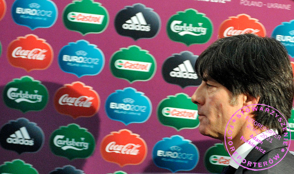 JOACHIM LOEW COACH OF GERMANY AFTER THE EUFA EURO 2012 QUALIFYING DRAW IN PALACE SCIENCE AND CULTURE IN WARSAW, POLAND..THE 2012 EUROPEAN SOCCER CHAMPIONSHIP WILL BE HOSTED BY POLAND AND UKRAINE...WARSAW, POLAND , FEBRUARY 07, 2010..( PHOTO BY ADAM NURKIEWICZ / MEDIASPORT )..PICTURE ALSO AVAIBLE IN RAW OR TIFF FORMAT ON SPECIAL REQUEST.