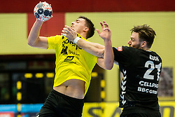 Gregor Potocnik of RK Gorenje Velenje during handball match between RK Gorenje Velenje and Kadetten Schaffhausen in VELUX EHF Champions League, on November 25, 2017 in Rdeca Dvorana, Velenje, Slovenia. Photo by Ziga Zupan / Sportida