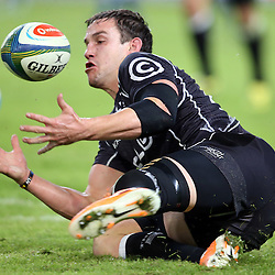 DURBAN, SOUTH AFRICA - MAY 31: Keegan Daniel of the Cell C Sharks during the Super Rugby match between Cell C Sharks and  DHL Stormers at Growthpoint Kings Park on May 31, 2014 in Durban, South Africa. (Photo by Steve Haag/Gallo Images)