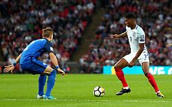Marcus Rashford of England takes on Peter Pekarik of Slovakia - Mandatory by-line: Robbie Stephenson/JMP - 04/09/2017 - FOOTBALL - Wembley Stadium - London, United Kingdom - England v Slovakia - 2018 FIFA World Cup Qualifier