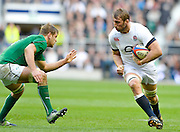 Twickenham Great Britain.  Right, England's,  Chris ROBSHAW, running with the ball,  during the 2014 RBS Six Nations Rugby; England vs Ireland. Saturday  22/02/2014  [Mandatory Credit; Peter Spurrier/Intersport-images]