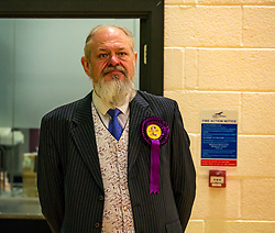 Haddington & Lammermuir by-election count. Haddington, East Lothian, Scotland, United Kingdom, 10 May 2019. Pictured:   David Sisson, UK Independence Party (UKIP) candidate. The election takes place of one councillor in Ward 5 of East Lothian Council due to the resignation of Councillor Brian Small. The successful candidate represents this ward along with the three existing councillors. The by-election uses the Single Transferable Vote (STV) system in which voters can rank candidates in order of preference and can choose to vote for as many or as few candidates as they like. The election fields 5 candidates from Scottish National Party (SNP), Scottish Labour Party, Scottish Conservatives and Unionist Party, Scottish Liberal Democrats and UK Independence Party (UKIP).<br /> The candidate elected is XX.<br /> Sally Anderson | EdinburghElitemedia.co.uk