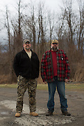 Brad Helmer of Hilton, N.Y., left, and James Reichert of Hamlin, N.Y., participated in the annual Hazzard County Squirrel Slam, a hunting competition that raises money for the Elks Lodge, in Brockport, New York on Saturday, February 25, 2017. Their squirrels totaled 6 pounds 9 ounces. Mike Bradley for The New York Times