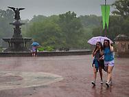 A rainy day at Bethesda Terrace