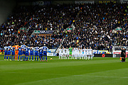 Leeds United and Wigan Athletic  remember during the EFL Sky Bet Championship match between Wigan Athletic and Leeds United at the DW Stadium, Wigan, England on 4 November 2018.
