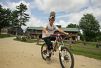 A quick peddle from the full service lodge to the lift for some great riding at Highland Mountain Bike Park in Northfield.  (Karen Bobotas/for the Laconia Daily Sun)