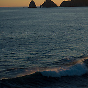 Silhouette of the Arch at Cabo San Lucas. BCS.