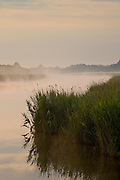 Mist over Hickling Broad, Norfolk Broads, United Kingdom