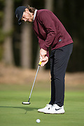 Tommy Fleetwood of England puts during the British Masters 2018 at Walton Heath Golf Course, Walton On the Hill, Surrey  on 11 October 2018. Picture by Martin Cole.