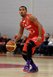 Dwayne Lautier-Ogunleye of Bristol Flyers in action during the BBL match between Bristol Flyers and Worcester Wolves at Wise Basketball Arena on January 17, 2015 in Bristol, England. - Photo mandatory by-line: Paul Knight/JMP - Mobile: 07966 386802 - 17/01/2015 - SPORT - Football - Bristol - SGS Wise Arena - Bristol Flyers v Worcester Wolves - Bristol Basketball League