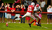 Geneva fans react to a dropped pass by a Geneva wide receiver (right) during the game at Canandaigua Academy in Canandaigua, New York on September 25, 2004.
