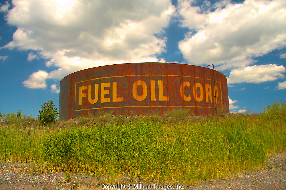 Fuel Oil Corp tank off Jefferson in industrial park in Ecorse Michigan
