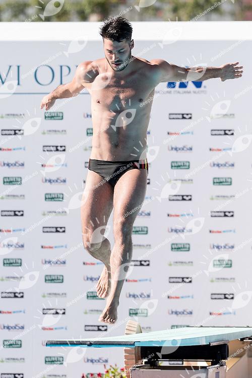 RINALDI Tommaso Marina Militare CS Nuoto<br /> 1m springboard trampolino men<br /> Stadio del Nuoto, Roma<br /> FIN 2016 Campionati Italiani Open Assoluti Tuffi<br /> <br /> day 02 21-06-2016<br /> Photo Giorgio Scala/Deepbluemedia/Insidefoto