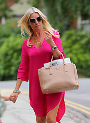Denise Van Outen arriving home with her daughter Betsy. London, UK. 14/08/2013<br />BYLINE MUST READ : JAMESY/GOTCHA IMAGES<br /><br />Copyright by © Gotcha Images Ltd. All rights reserved.<br />Usage of this image is conditional upon the acceptance <br />of Gotcha Images Ltd, terms and conditions available at<br />www.gotchaimages.com