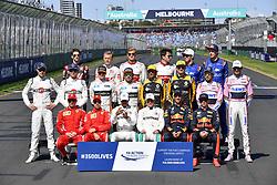 March 25, 2018 - Melbourne, Victoria, Australia - Motorsports: FIA Formula One World Championship 2018, Melbourne, Victoria : Motorsports: Formula 1 2018 Rolex  Australian Grand Prix,    All Drivers  (Credit Image: © Hoch Zwei via ZUMA Wire)