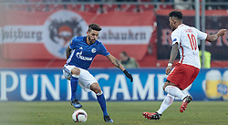 08.12.2016, Red Bull Arena, Salzburg, AUT, UEFA EL, FC Red Bull Salzburg vs Schalke 04, Gruppe I, im Bild Junior Caicara (FC Schalke 04), Valentino Lazaro (FC Red Bull Salzburg) // Junior Caicara (FC Schalke 04), Valentino Lazaro (FC Red Bull Salzburg) during the UEFA Europa League group I match between FC Red Bull Salzburg and Schalke 04 at the Red Bull Arena in Salzburg, Austria on 2016/12/08. EXPA Pictures © 2016, PhotoCredit: EXPA/ JFK