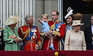 Prince George and royals - Trooping Balcony 2015