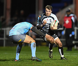 Dales Stuckey of Pontypridd<br /> <br /> Photographer Mike Jones/Replay Images<br /> <br /> Principality Premiership - Neath v Pontypridd - Friday 16th March 2018 - The Gnoll Neath<br /> <br /> World Copyright © Replay Images . All rights reserved. info@replayimages.co.uk - http://replayimages.co.uk
