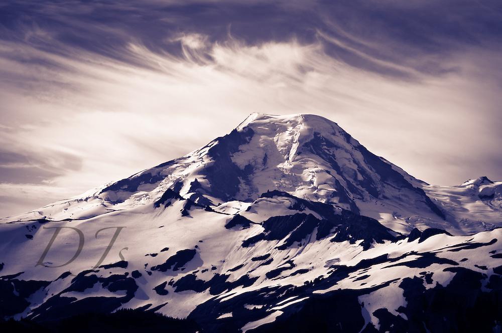 B/W of Mount Baker ,Washington