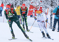 16.12.2017, Nordische Arena, Ramsau, AUT, FIS Weltcup Nordische Kombination, Langlauf, im Bild v. l.: Fabian Riessle (GER), Vinzenz Geiger (GER), Jan Schmid (NOR) // f. l.: Fabian Riessle of Germany, Vinzenz Geiger of Germany, Jan Schmid of Norway during Cross Country Competition of FIS Nordic Combined World Cup, at the Nordic Arena in Ramsau, Austria on 2017/12/16. EXPA Pictures © 2017, PhotoCredit: EXPA/ Martin Huber