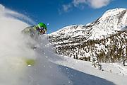 Jared Dalen powder skiing at Mt. Rose Ski Tahoe
