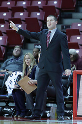 01 November 2017: Amos Arbogast during a Exhibition College Women's Basketball game between Illinois State University Redbirds the Red Devils of Eureka College at Redbird Arena in Normal Illinois.