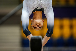 October 28, 2018 - Doha, Quatar - Anne-Marie Padurariu of  Canada   during  Balancing Beam qualification at the Aspire Dome in Doha, Qatar, Artistic FIG Gymnastics World Championships on 28 of October 2018. (Credit Image: © Ulrik Pedersen/NurPhoto via ZUMA Press)