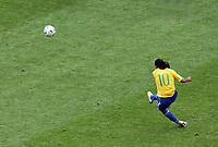 Photo: Chris Ratcliffe.<br /> Brazil v Ghana. Round 2, FIFA World Cup 2006. 27/06/2006.<br /> Ronaldinho of Brazil.