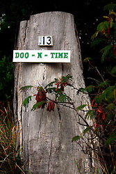 AUSTRALIA TASMANIA DOOTOWN 6FEB08 - Signs with 'Doo' in them adorn every house in Dootown, a holiday village where all the residents have tried to be witty with the naming of their homes. The house which reputedly started the fashion, is named 'Doo Little' - a suitable name for a holiday home..jre/Photo by Jiri Rezac..© Jiri Rezac 2008..Contact: +44 (0) 7050 110 417.Mobile:  +44 (0) 7801 337 683.Office:  +44 (0) 20 8968 9635..Email:   jiri@jirirezac.com.Web:    www.jirirezac.com..© All images Jiri Rezac 2007 - All rights reserved.