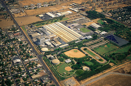 Vista aerea de zona industrial de Maraacaibo, Estado Zulia, Venezuela