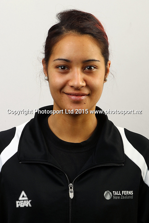 Jordan Hunter, New Zealand Tall Ferns, Womens National Basketball Team Headshots. Bruce Pullman Lodge, Auckland. 17 July 2015. Copyright Photo: William Booth / www.photosport.nz