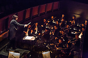 Atsushi Yamada conducting the Philhasmonia Orchestra of New York in Verdi'a La Traviata at the Rose Theater at Jazz at Lincoln Center.