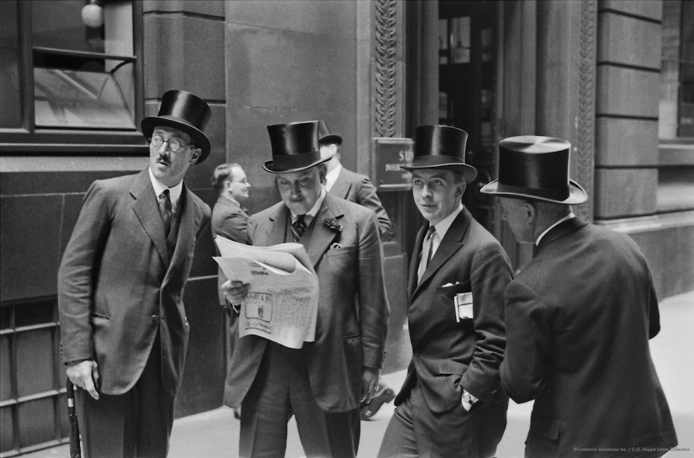 Outside Stock Exchange, London, 1937